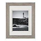 Real Simple® 8-Inch x 10-Inch Wood Portrait Frame in Grey Wash with White Double Mat