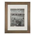 Real Simple® 8-Inch x 10-Inch Wood Portrait Frame in Natural with Off-White Double Mat