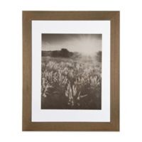 Real Simple® 11-Inch x 14-Inch Wood Portrait Frame in Natural with Off-White Double Mat