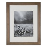 Real Simple® 10-Inch x 13-Inch Wood Portrait Frame in Natural with Off-White Double Mat
