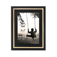 Prinz Artisan 5-Inch x 7-Inch Wood Frame in Black