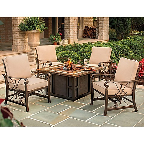 Perfect Agio Seville 5 Piece Fire Pit Chat Set