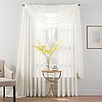 Smart Sheer™ 84-Inch Insulated Crushed Voile Rod Pocket Sheer Window Curtain Panel in Ivory