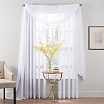 Smart Sheer™ 95-Inch Insulated Crushed Voile Rod Pocket Sheer Window Curtain Panel in White