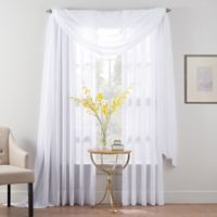 Smart Sheer™ 84-Inch Insulated Crushed Voile Rod Pocket Sheer Window Curtain Panel in White