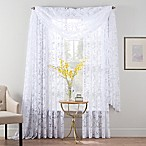 Smart Sheer™ 95-Inch Insulated Burnout Voile Rod Pocket Sheer Window Curtain Panel in White