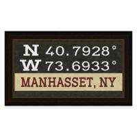 Framed Giclée Manhasset, NY Coordinates Print Wall Art