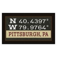 Pittsburgh PA Coordinates Framed Wall Art