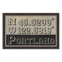 Portland Coordinates Framed Giclée Wall Art