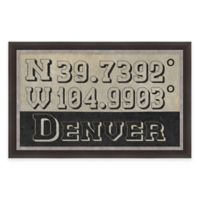 Denver Colorado Coordinates Framed Wall Art