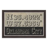 Framed Giclée Oklahoma City Coordinates Print Wall Art