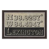 Lexington Kentucky Coordinates Framed Wall Art