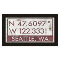 Seattle Coordinates Framed Giclée Wall Art