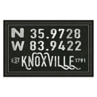 Knoxville, Tennessee Coordinates Framed Wall Art