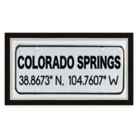 Colorado Springs Colorado Coordinates Framed Wall Art