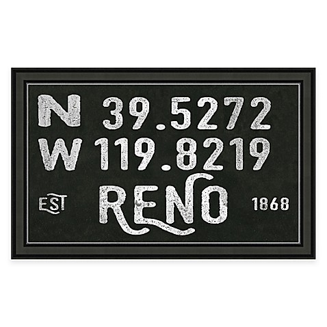 Framed Gicl E Reno Coordinates Print Wall Art Bed Bath Beyond