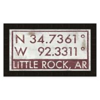 Framed Giclée Little Rock, AR Coordinates Print Wall Art