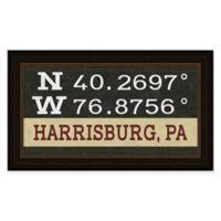 Harrisburg PA Coordinates Framed Wall Art