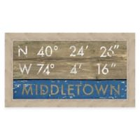 Framed Giclée Middletown Coordinates Print Wall Art