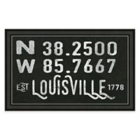 Louisville Kentucky Coordinates Framed Wall Art