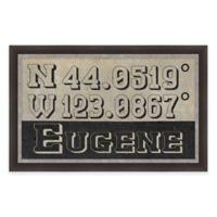 Eugene Coordinates Framed Giclée Wall Art