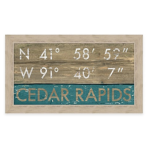 Framed Gicl 233 E Cedar Rapids Coordinates Print Wall Art