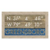 Framed Giclée Greensboro Coordinates Print Wall Art