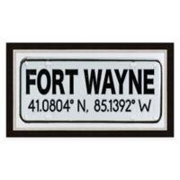 Fort Wayne Coordinates Framed Giclee Wall Art