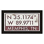 Memphis, Tennessee Coordinates Framed Wall Art