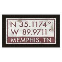 Memphis, Tennessee Coordinates Framed Wall Art