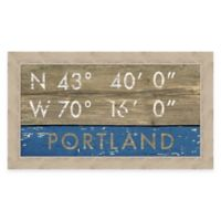 Portland Maine Coordinates Framed Wall Art
