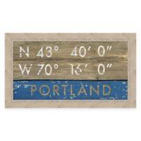 Portland Maine Coordinates Framed Wall Art