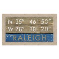 Framed Giclée Raleigh Coordinates Print Wall Art