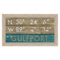 Gulfport Mississippi Coordinates Framed Wall Art