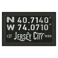 Framed Giclée Jersey City Coordinates Print Wall Art
