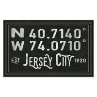 Framed Giclée Jersey City Coordinates Print Wall Art