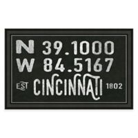 Cincinnati Ohio Coordinates Framed Wall Art