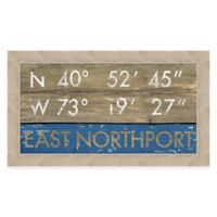 East Northport Coordinates Framed Wall Art
