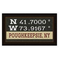 Poughkeepsie Coordinates Framed Wall Art