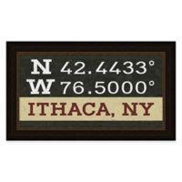 Ithaca Coordinates Framed Wall Art