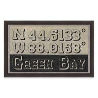 Framed Giclée Green Bay Coordinates Print Wall Art
