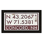 Concord New Hampshire Coordinates Framed Wall Art