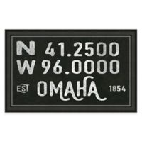 Omaha Nebraska Coordinates Framed Wall Art