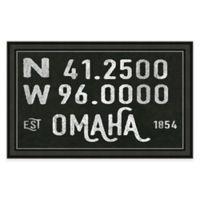 Omaha Nebraska Coordinates Framed Wall Art