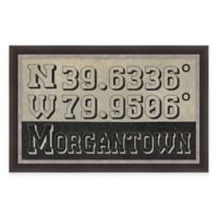 Framed Giclée Morgantown, WV Coordinates Print Wall Art