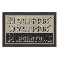 Framed Giclée Morgantown, WV Coordinates Print Wall Art