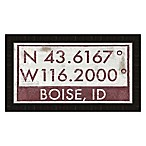 Boise Idaho Coordinates Framed Wall Art