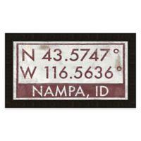 Nampa Idaho Coordinates Framed Wall Art