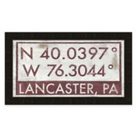 Lancaster PA Coordinates Framed Wall Art