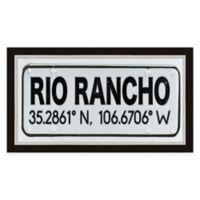 Framed Giclée Rio Rancho, NM Coordinates Print Wall Art